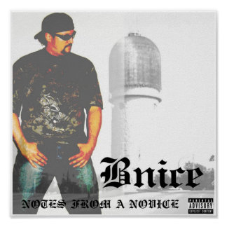 BNICE NOTES FROM A NOVICE CD COVER POSTER