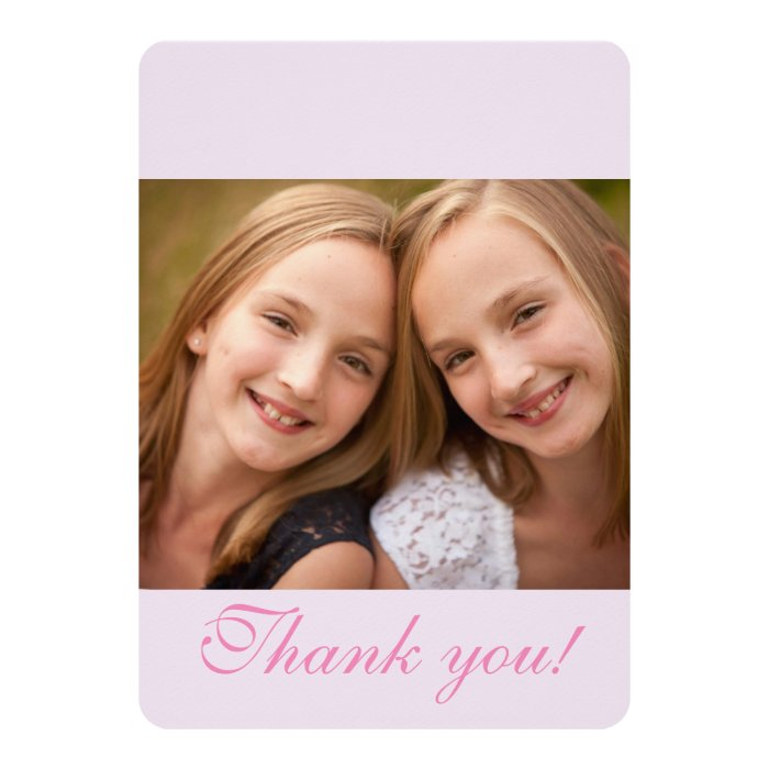 B'NOT B'NAI BAR BAT MITZVAH THANK YOU CARD | Zazzle
