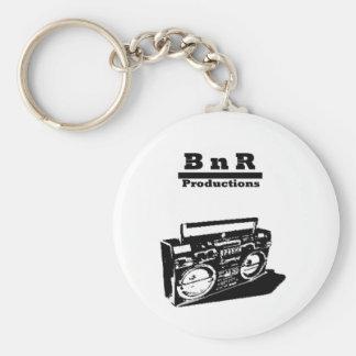 BnR stencil Boom box Basic Round Button Keychain