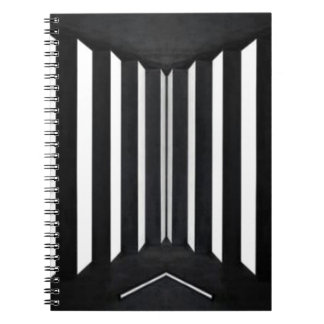 BNW B&W BlackNwhite Light Panels Spiral Notebook