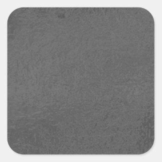 BNW Circles n Text Samples - White on Black Square Sticker