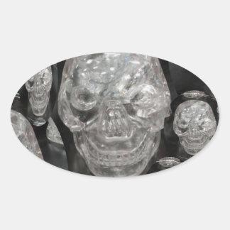 BNW Skull Master Scull Guru Oval Sticker