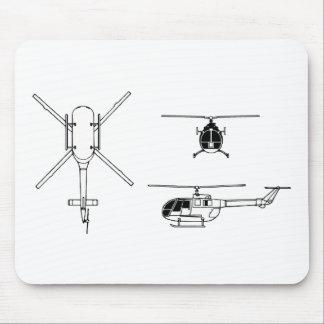 BO-105 MOUSE PAD