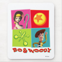 Bo and Woody Disney Mouse Pad