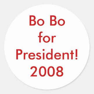 ¡BO BoforPresident! 2008 Pegatina Redonda
