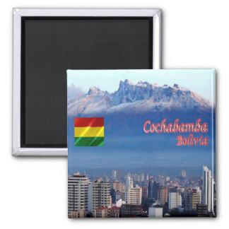 BO - Bolivia - Cochabamba - Cordillera Tunari 2 Inch Square Magnet