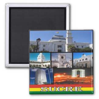 BO - Bolivia - Sucre Mosaic Collage Magnet