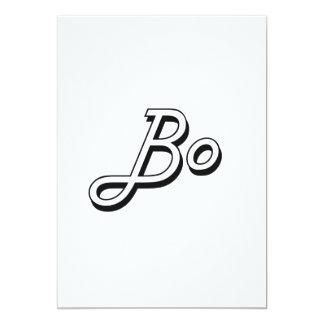Bo Classic Retro Name Design 5x7 Paper Invitation Card