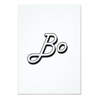 Bo Classic Retro Name Design 3.5x5 Paper Invitation Card