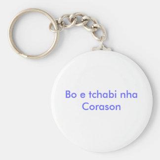 Bo e tchabi nha Corason Keychain