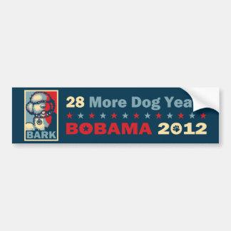 "BO el perro, ""ESPERANZA divertida"" - Bobama 2012 d Pegatina Para Auto"