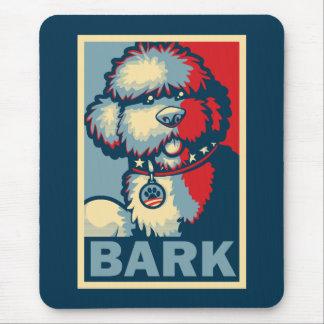 """BO el perro, """"ESPERANZA divertida de Obama """" Alfombrilla De Ratón"""