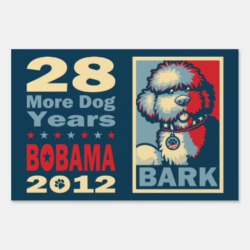 """BO el perro, """"ESPERANZA divertida de Obama """" Letreros"""
