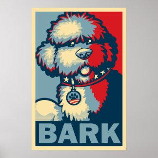 """BO el perro, """"ESPERANZA divertida de Obama """" Impresiones"""