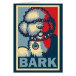 "BO el perro, ""ESPERANZA divertida de Obama "" Tarjetas"