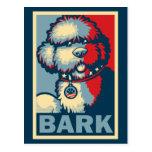 "BO el perro, ""ESPERANZA divertida de Obama "" Tarjetas Postales"