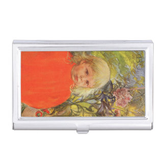 Bo in Pink Peonies Business Card Holder