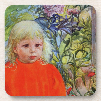 Bo in Pink Peonies Drink Coaster