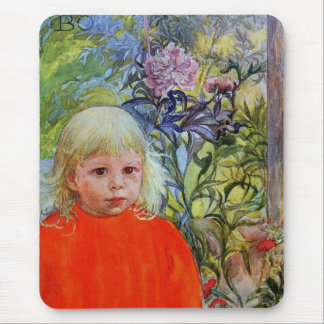 Bo in Pink Peonies Mouse Pad