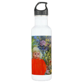 Bo in Pink Peonies Stainless Steel Water Bottle
