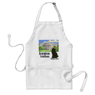 Bo Is Not Moving Re-elect His Owner Obama 2012 Adult Apron