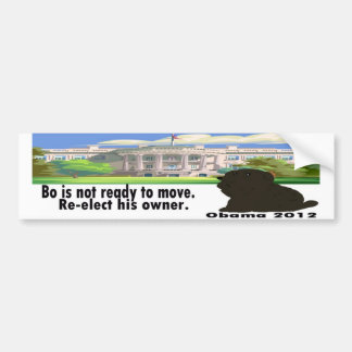 Bo Is Not Moving Re-elect His Owner Obama 2012 Car Bumper Sticker