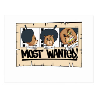 Bo Most Wanted Postcard