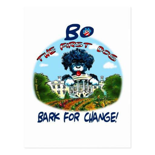 "Bo Obama ""Bark for Change!"" Postcard"