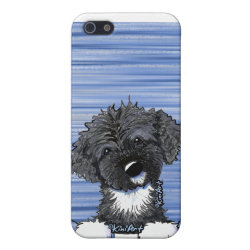 Case Savvy iPhone 5 Matte Finish Case with Portuguese Water Dog Phone Cases design