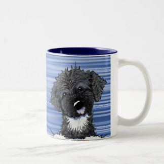 Bo Obama Portuguese Water Dog Two-Tone Mug