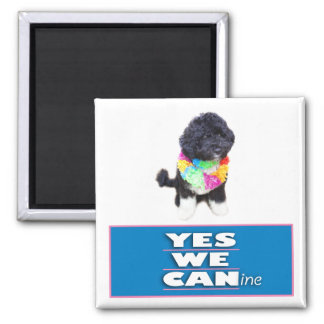 BO Obama YES WE CANine Magnet, square 2 Inch Square Magnet
