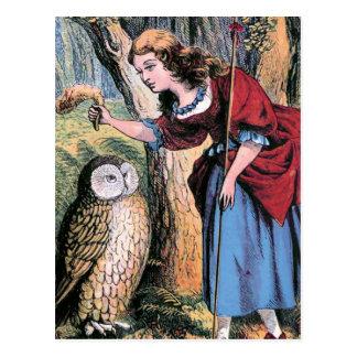 """""""Bo-Peep and the Owl"""" Postcard"""