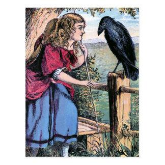 BO-Pío y el ejemplo del vintage del cuervo Tarjetas Postales