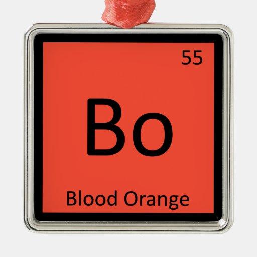 BO - Tabla periódica de la química de la fruta de  Adornos