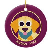 Bo the Dog Ceramic Ornament