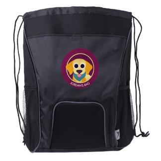 Bo the Dog Drawstring Backpack