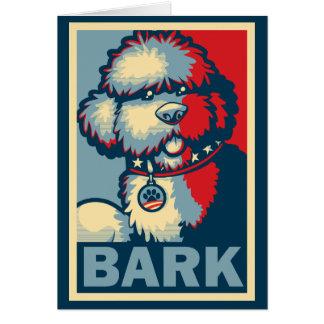 "Bo The Dog, Funny ""Obama HOPE"" Card"