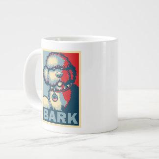 """Bo The Dog, Funny """"Obama HOPE"""" Large Coffee Mug"""