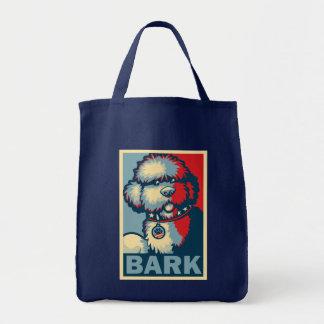 """Bo The Dog, Funny """"Obama HOPE"""" Tote Bag"""