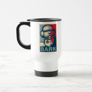 """Bo The Dog, Funny """"Obama HOPE"""" Travel Mug"""