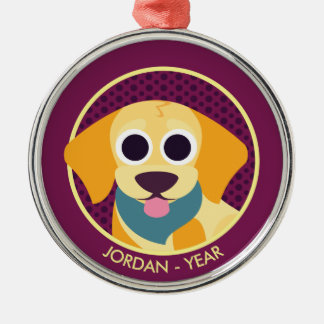 Bo the Dog Metal Ornament
