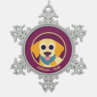Bo the Dog Snowflake Pewter Christmas Ornament