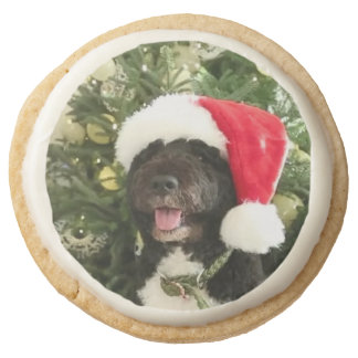 Bo Waiting for Santa - Round Shortbread Cookie