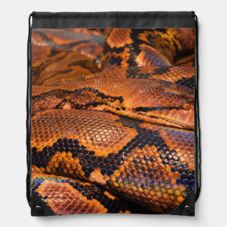 Boa Constrictor Drawstring Bag
