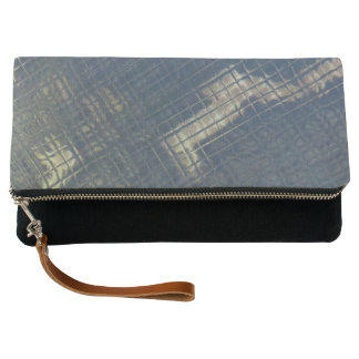 Boa Image Abstract Fold-Over Clutch