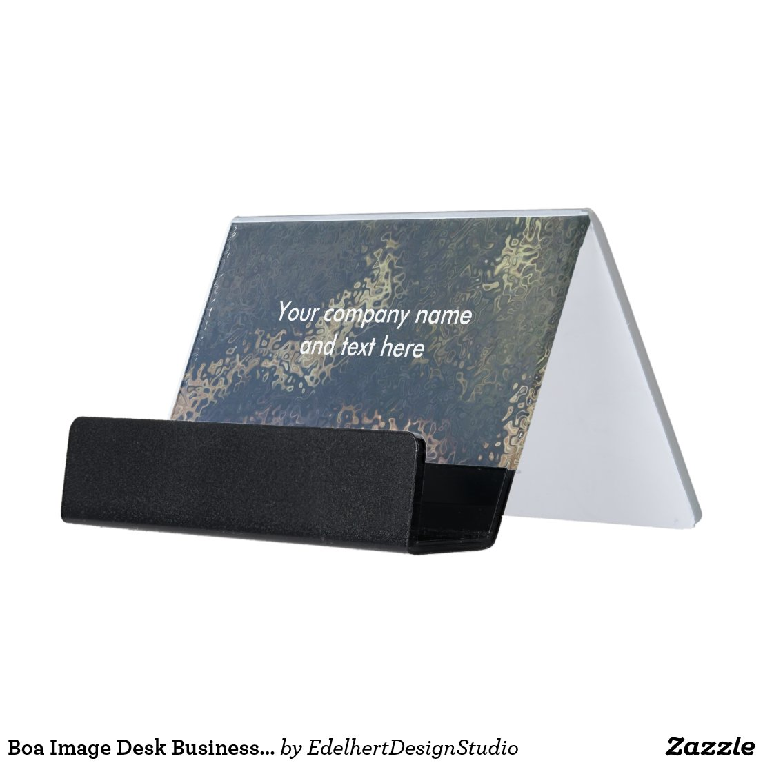 Boa Image Desk Business Card Holder