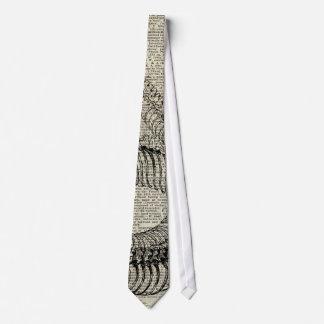 Boa Snake Skeleton Vintage Dictionary Page Art Tie