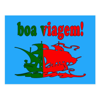 Boa Viagem - buen viaje en portugués - vacaciones Postal