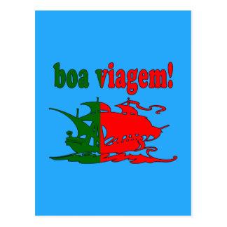 Boa Viagem - buen viaje en portugués - vacaciones Tarjeta Postal