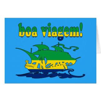 Boa Viagem - Good Trip in Brazilian - Vacations Card